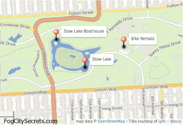 Map of Stow Lake