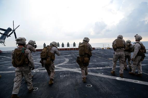 marines marksmanship course, uss san diego