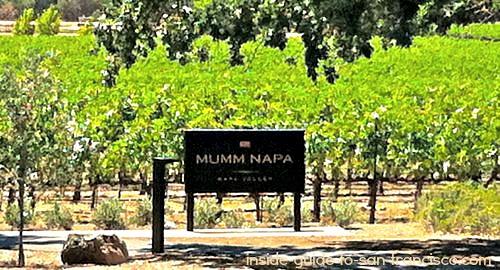 mumm napa vineyard sign