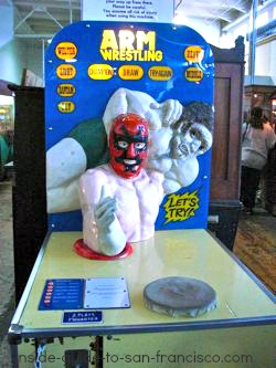 wrestler, musee mechanique, fishermans wharf,