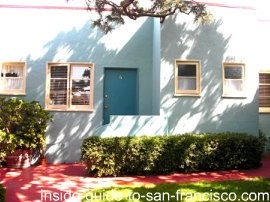 ocean park motel, san francisco, courtyard
