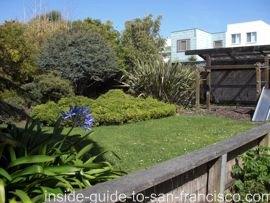 ocean park motel, san francisco, garden