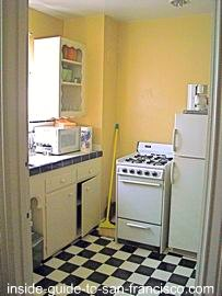 ocean park motel, san francisco, kitchenette