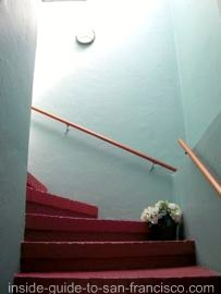 ocean park motel, san francisco, stairway