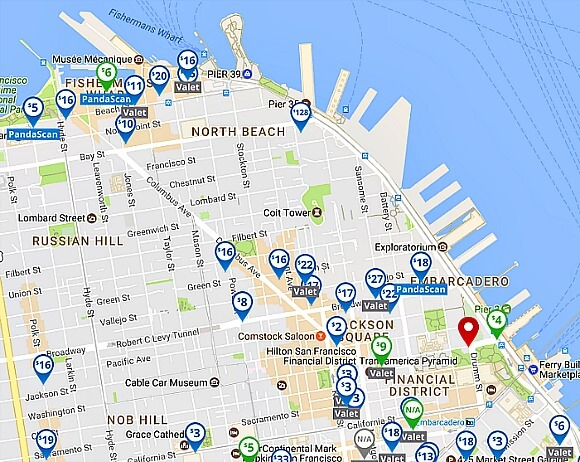 parking panda map for san francisco