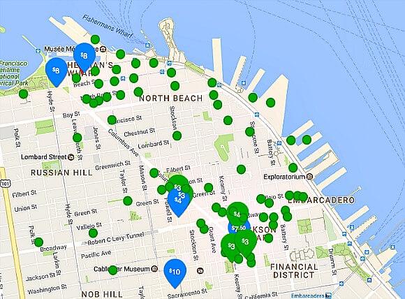 parkme.com parking app map