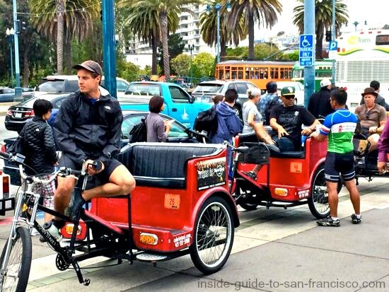 pedicabs, san francisco embarcadero