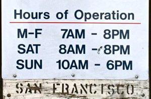 pier 23 parking hours