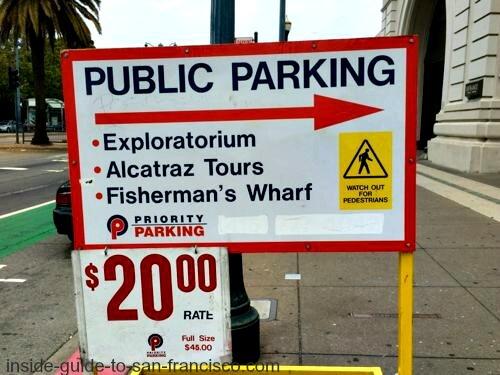 pier 23 parking sign
