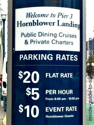 hornblower landing parking rates