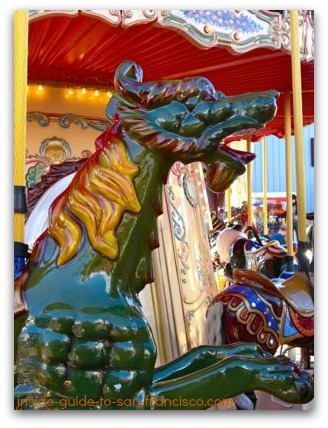 pier 39 carousel, water dragon