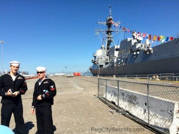 fleet week ship tours, sailors at pier 80