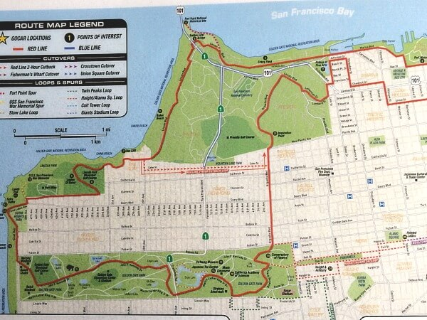 San Francisco Map Tourist.Go Cars In San Francisco A Super Fun Way To Explore The City