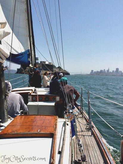 san francisco bay cruise, alcatraz view