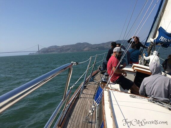 san francisco bay cruise, sailboat ride