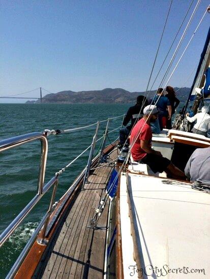 san francisco bay cruise, sailboat and marin headlands