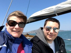 san francisco bay cruise, karen and alex