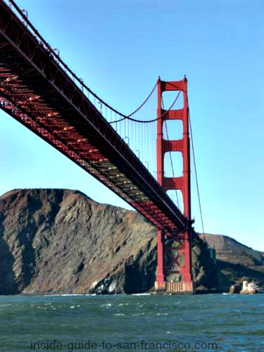 san francisco bay cruises, golden gate view, sunny