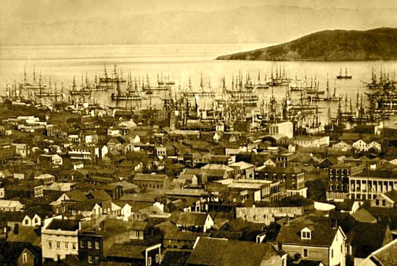san francisco harbor, yerba buena cove, 1851