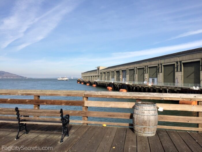View of docking area for Pier 35, San Francisco