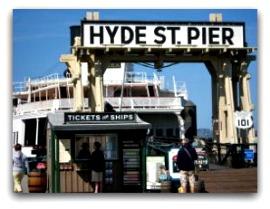 san francisco piers, hyde street pier entrance