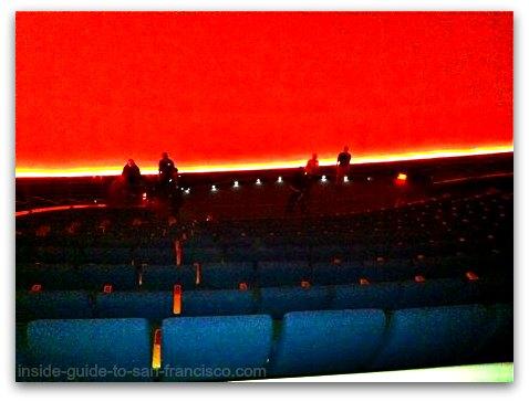 inside the planetarium, california academy of sciences