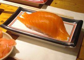 san francisco sushi, isobune, salmon