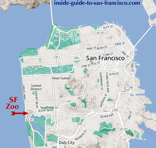 San Francisco Zoo on okc zoo map, sandiego zoo map, seaworld san diego map, sac zoo map,
