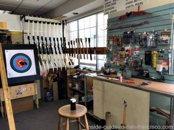 inside the san francisco archery pro shop