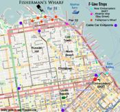 fishermans wharf map, pier 33