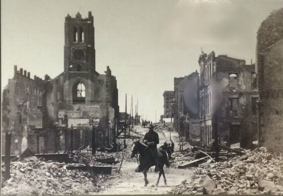 st. mary's cathedral, sf chinatown, after the earthquake