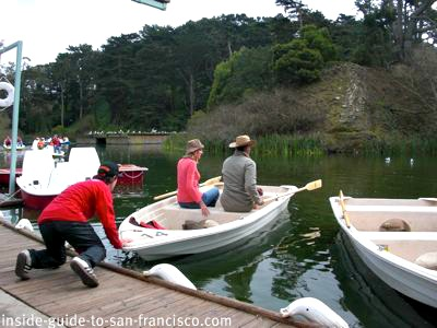 stow lake, new rowboats