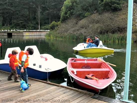 stow lake, boat dock
