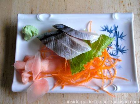 sushi in san francisco, saba sashimi