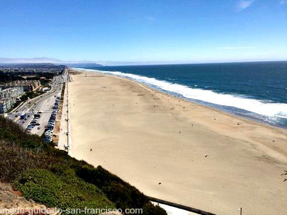 view of ocean beach, sutro heights park, san francisco