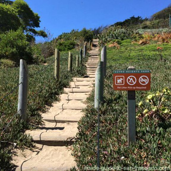 stairway to sutro heights park, san francisco