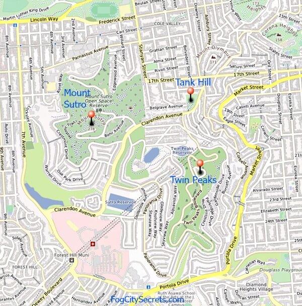 Tank Hill Map