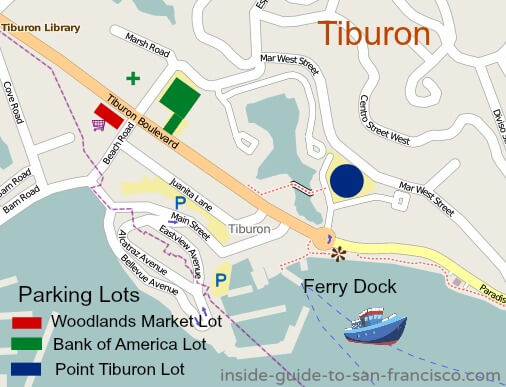 tiburon parking lots map