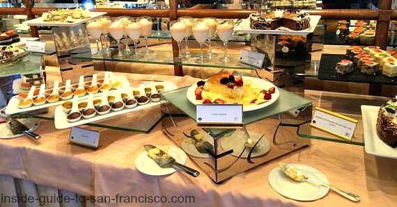 top of the mark brunch, dessert table