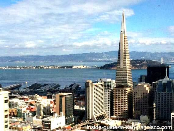 top of the mark, view of sf bay and transamerica pyramid