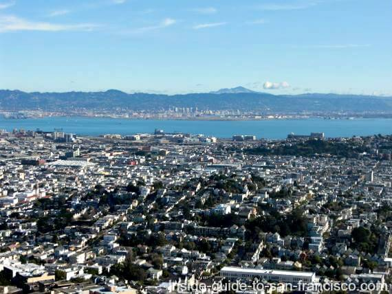 twin peaks san francisco, berkeley and oakland view