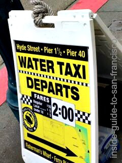 water taxi sign, san francisco embarcadero