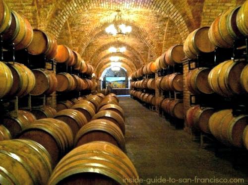 wine barrels, castello di amorosa
