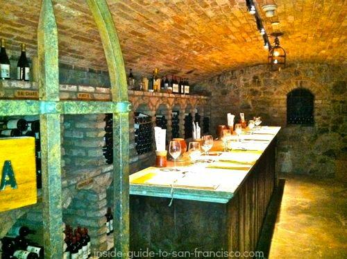 wine tasting, cellar of castello di amorosa