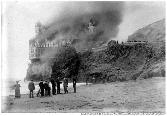 cliff house fire 1907, san francisco,