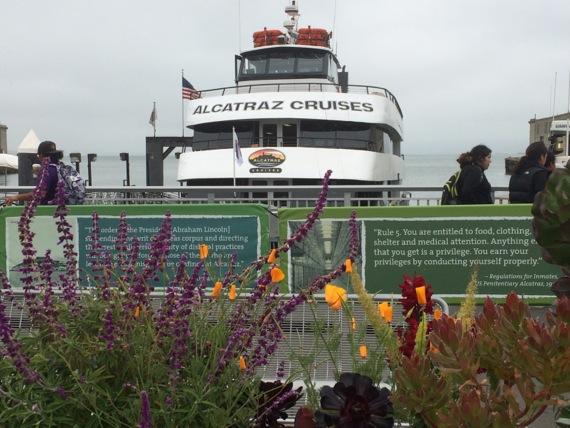 Alcatraz ferry at Pier 33