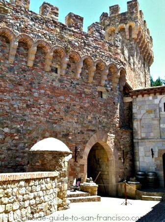 doorway in castello di amorosa