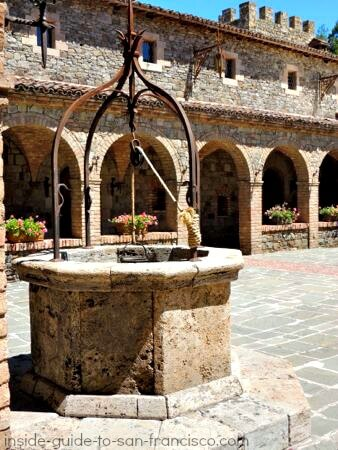 courtyard, castello di amorosa