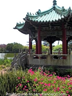 chinese pavilion, stow lake, golden gate park