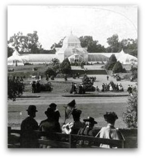 conservatory of flowers, san francisco, 1897